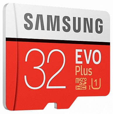 Карта памяти Samsung  micro SDXC 32 GBSDHC EVO Plus 95MB/s + SD adapter